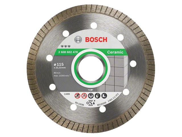 Алмазный круг 115х22,23мм керамика Best Turbo (BOSCH)