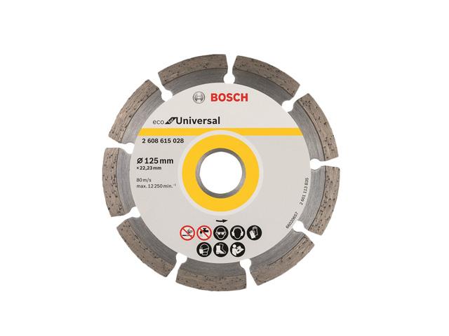 Алмазный круг 115х22 мм универс. сегмент. ECO UNIVERSAL BOSCH (сухая резка)