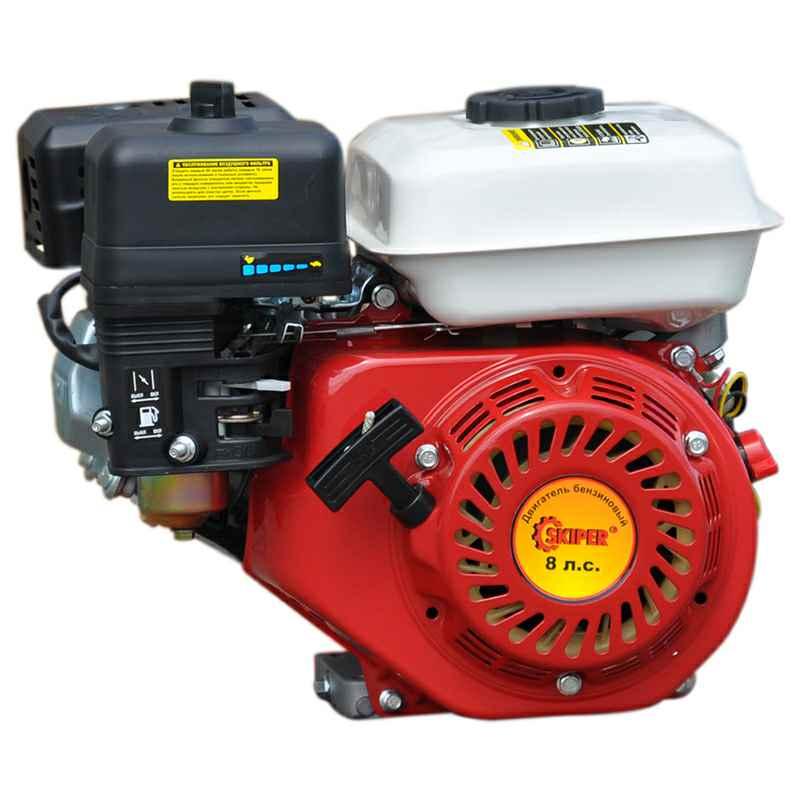 Двигатель бензиновый 170F Скипер (8 л.с., шлицевой вал диам. 25мм х35мм)