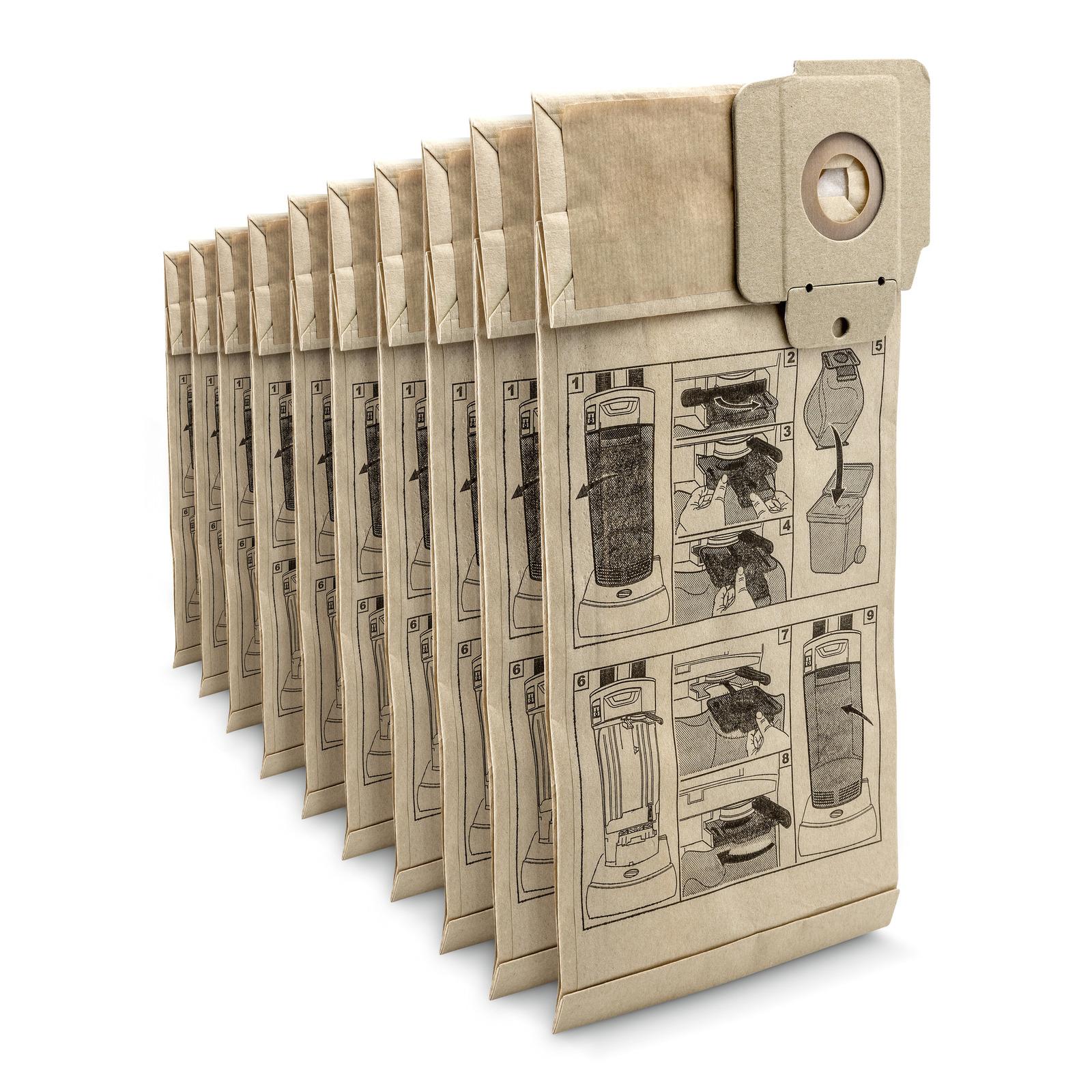 Бумажные фильтр-мешки, 10 шт. для пылесоса 6.904-294.0