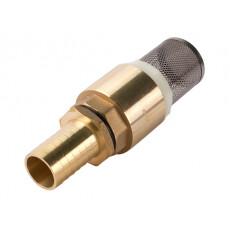 """Обратный клапан с сетчатым фильтром для насосных станций, латунь, 1"""" (ECO)"""