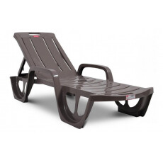 Пластиковый лежак, шезлонг (190x67x30 см) Keter FLORIDA, капучино