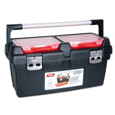Ящик для инструмента пластмассовый с лотком и органайзером TAYG 600-E