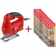 Лобзик электрический WORTEX JS 6506-1 E + Акция пилки лобзиковые