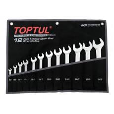 Набор ключей рожк, 6-32мм 12шт (черное полотно) TOPTUL GPAJ1202