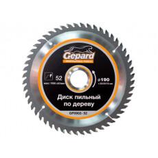 Диск пильный 190х30/20/16 мм 52 зуб. по дереву GEPARD (твердоспл. зуб)