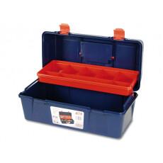 Ящик для инструмента пластмассовый 40x20,6x18,8 см с лотком TAYG 24