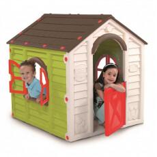Уличный детский домик PLAY HOUSE (салатовый/коричневый)