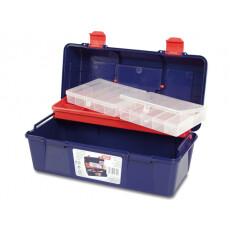 Ящик для инструмента пластмассовый 35,6x18,4x16,3 см с лотком TAYG 23
