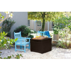 Столик-сундук Cube Wood 208L, графит