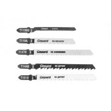 Набор пилок для лобзика универсальный 5шт. GEPARD (GP0600-5)