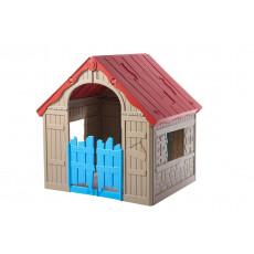 Детский Игровой Домик Keter FOLDABLE PLAY HOUSE, беж/красн крыша