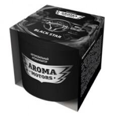 Ароматизатор гелевый «Aroma Motors» BLACK STAR в картонной упаковке (круглый) 100мл