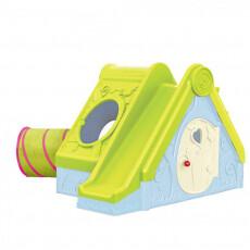 Игровой домик Keter - Фантивити FUNTIVITY, бирюзовый корпус, зеленая горка