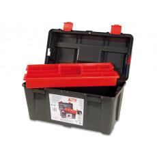 Ящик для инструмента пластмассовый 44,5x23,5x23 см с лотком TAYG 30