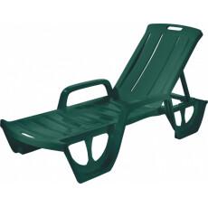 Пластиковый iезлонг Keter Florida (Флорида), цвет темно-зеленый