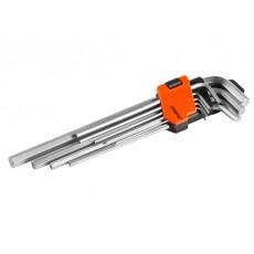 Набор ключей шестигр. 1,5-10мм 9шт экстрадлинн. PRO STARTUL (PRO-4090)