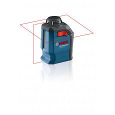 Нивелир лазерный линейный BOSCH GLL 2-20 с держателем в чем.