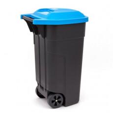 Контейнер для мусора на колесах REFUSE BIN 110 л, черный/синий