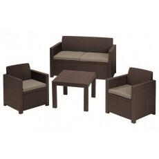 Комплект мебели KETER Alabama set, коричневый