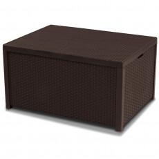 Столик-сундук Keter Arica rattan storage table (Арика раттан), коричневый
