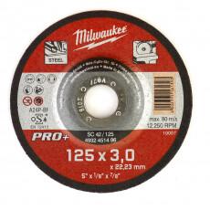 Диск отрезной по металлу 125 мм/3мм MILWAUKEE SC 42/125