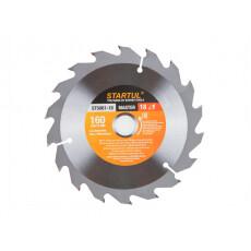 Диск пильный 160х20/16 мм 18 зуб. по дереву STARTUL (твердоспл. зуб)