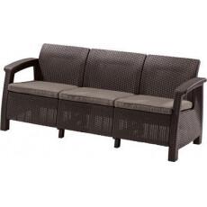 Скамья трехместная CORFU II MAX LOVE SEAT, коричневый