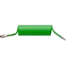 Шланг полиурет. спиральный ф 8/12 мм c быстросъемный соед. ECO (длина  5 м)