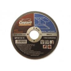 Круг отрезной 115х1.0x22.2 мм для металла GEPARD
