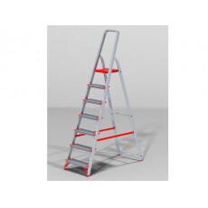 Лестница-стремянка алюм. проф. с широкой ступенью 147 см 7 ступ. 6,8кг NV500 Новая Высота (макс. нагрузка 225кг)