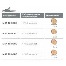 Аккумуляторная пила Stihl MSA 140 C-BQ