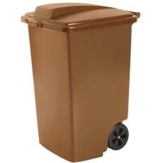 Контейнер для мусора на колёсах 100 л REFUSE BIN, бронза