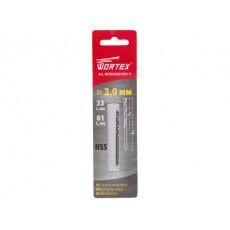Сверло по металлу ц/х 3.0х33х61 мм HSS WORTEX