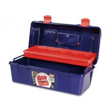 Ящик для инструмента пластмассовый 35,6x18,4x16,3 см с лотком TAYG 22