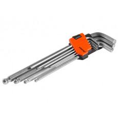 Набор ключей шестигр. 1,5-10мм 9шт экстрадлинн. с шар. PRO STARTUL (PRO-4091)