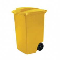 Контейнер для мусора на колёсах 100 л REFUSE BIN, желтый