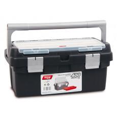 Ящик для инструмента пластмассовый 40x22,5x19 см с лотком TAYG 400