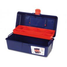 Ящик для инструмента пластмассовый 31x16x13 см с лотком TAYG 21