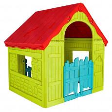 Детский Игровой Домик Keter FOLDABLE PLAY HOUSE, салатовый/красная крыша