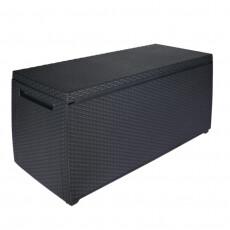 Сундук пластиковый уличный Keter Storage Box RATTAN STYLE (графит)