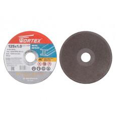 Круг отрезной 125х1.0x22.2 мм для металла WORTEX