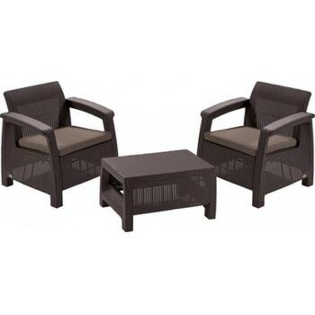 Комплект мебели KETER Bahamas Weekend Set, коричневый